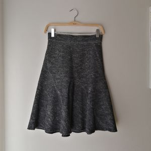 Zara gray A-line wool skirt with zippered back